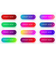 bright colorful order now icons isolated on white vector image vector image
