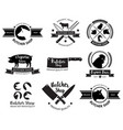 butcher shop logo and label vector image vector image