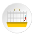 Cage for birds icon flat style vector image vector image