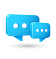 Chat Icons with White Background vector image