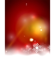 Christmas red abstract background with white vector image vector image