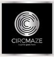circle maze logo - letter c vector image vector image