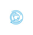 circuit future technology icon vector image