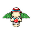 clown with green hair and small red hat vector image vector image