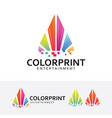 color printing logo design vector image