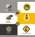 construction and building symbols and logo vector image vector image