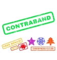 Contraband Rubber Stamp vector image vector image