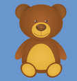 cute bear isolated on blue background vector image vector image