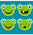 Cute Frog Stickers vector image vector image