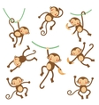 Cute funny monkeys vector image
