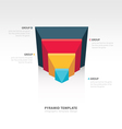 design pyramid infographic template vector image vector image
