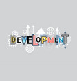 development creative word over abstract geometric vector image vector image