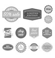 different label monochrome icons in set collection vector image