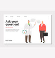 doctor consultation banner vector image vector image