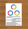 document with round charts vector image vector image