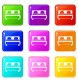 double bed set 9 vector image vector image