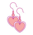 earrings with heart shape vector image