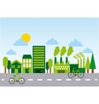 ecology and green city design vector image