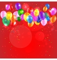 Festive background with color balloons vector image vector image
