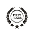 first place laurel leaves vector image