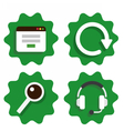 Flat icon for web design vector image