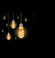 fluorescent light bulbs hanging from the ceiling vector image vector image