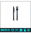 Fork knife icon flat vector image