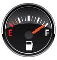gas fuel automotive dashboard gauge vector image vector image