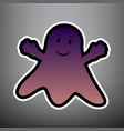 ghost sign violet gradient icon with vector image vector image