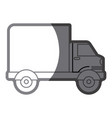 grayscale silhouette of truck with wagon vector image vector image