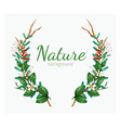 green floral banner with isolated on white vector image vector image