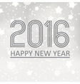 happy new year 2016 on grayscale stars background vector image vector image