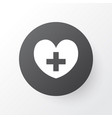 heart icon symbol premium quality isolated heal vector image vector image