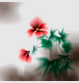 hibiscus flowers hibiscus ink effect stylization vector image