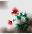 hibiscus flowers hibiscus ink effect stylization vector image vector image