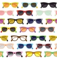 Hipster sunglasses background vector image