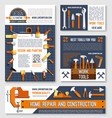 home repair construction tool poster template set vector image vector image