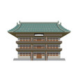 japanese traditional house vector image