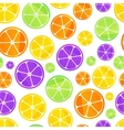 Juicy fruit slices on white seamless pattern vector image vector image