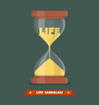 Life sandglass in flat style vector image vector image