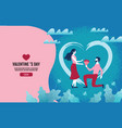 lovers holding flowers in an atmosphere of love vector image