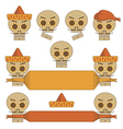 mexican skulls vector image vector image