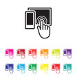 mobile and tablet icon set vector image vector image
