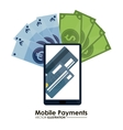Mobile payment icons design vector image vector image