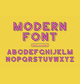 modern font vector image vector image