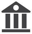 museum flat icon symbol vector image