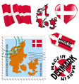 national colours of Denmark vector image vector image