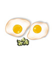 of an omelet flat scrambled vector image