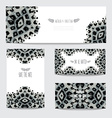 oil painted cards set vector image vector image