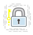 padlock and key modern flat line vector image vector image